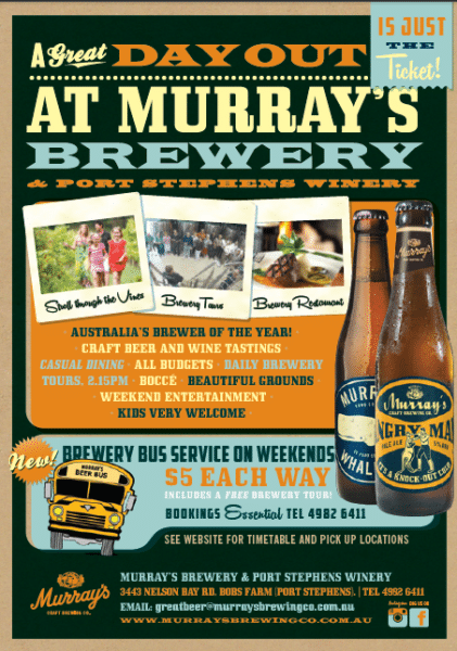 murrays brewery bus service